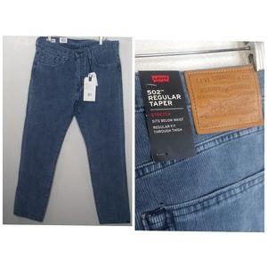 Levi's 502 regular stretch taper jeans.
